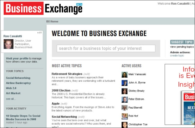 Welcome to the Business Exchange