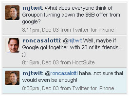 Groupon Rejects $6 Billion Google Offer