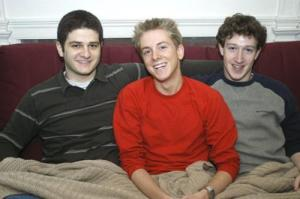 Facebook creator Mark Zuckerberg '06 (right) credits his roommates, Dustin A. Moskovitz '06 and Christopher R. Hughes '06 (left and middle) as the site's social directors.Facebook creator Mark Zuckerberg '06 (right) credits his roommates, Dustin A. Moskovitz '06 and Christopher R. Hughes '06 (left and middle) as the site's social directors.